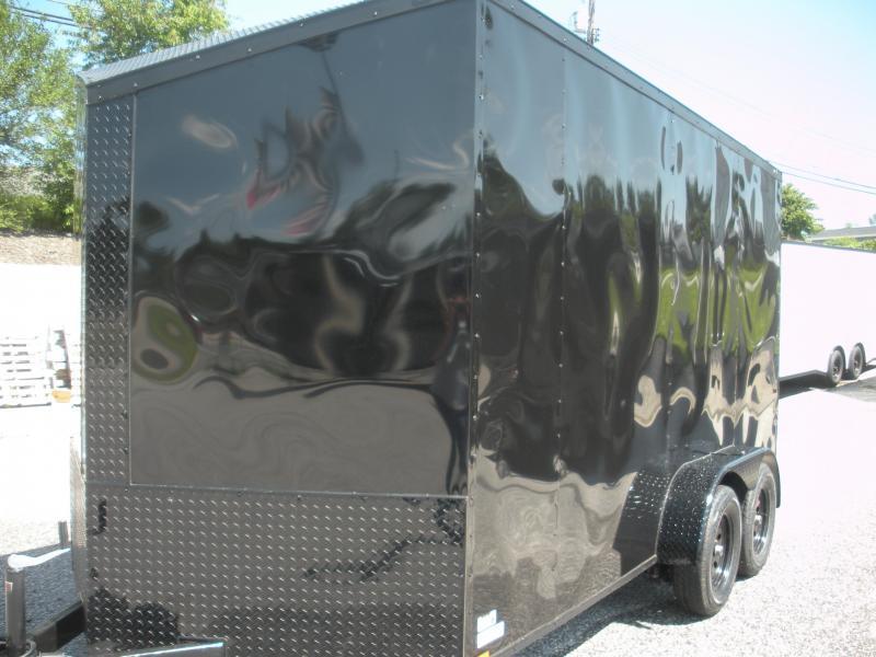 "2020 Anvil 7' X 14' X 7' Slanted V Nose ""Black Trim"" Enclosed Cargo Trailer"