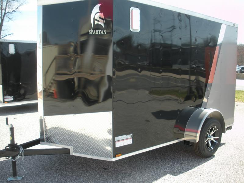 2019 Spartan 6' X 10' Black/Beige Motorcycle Pkg. Enclosed Cargo Trailer