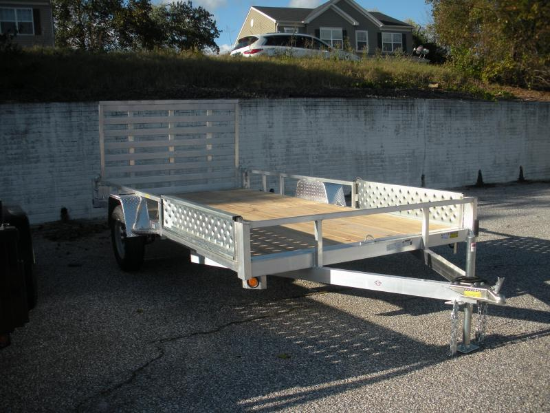 "2019 Quality Steel and Aluminum 82"" X 14' Utility Trailer with ATV Side Ramps"