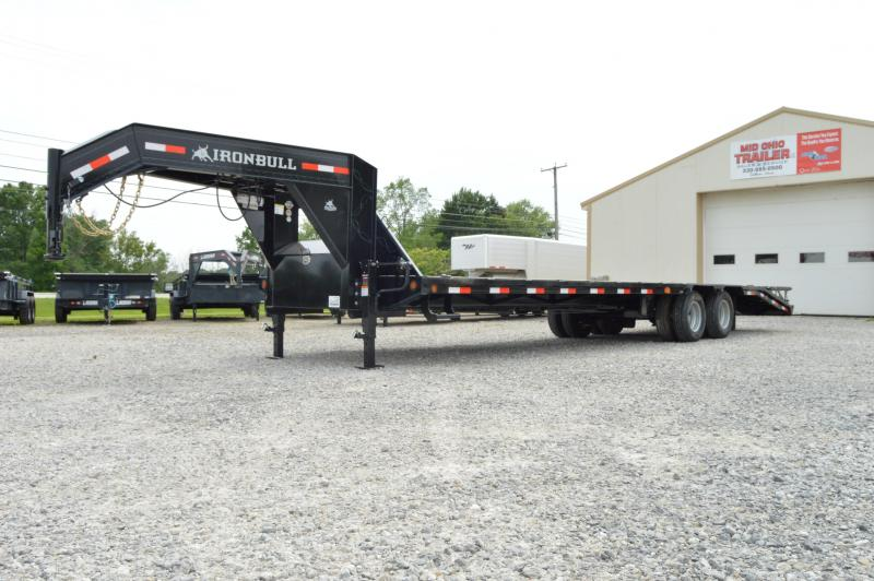 2019 Iron Bull 102x32 Low Pro Gooseneck Equipment Trailer