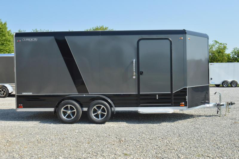"2020 Legend Manufacturing 7X19 DVN Enclosed Cargo Trailer "" BLACKOUT EDITION"""