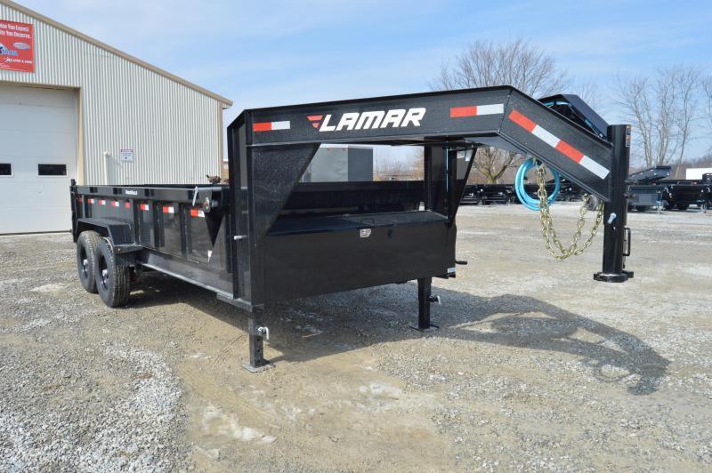 2020 Lamar Trailers 83x16 Gooseneck Dump Trailer