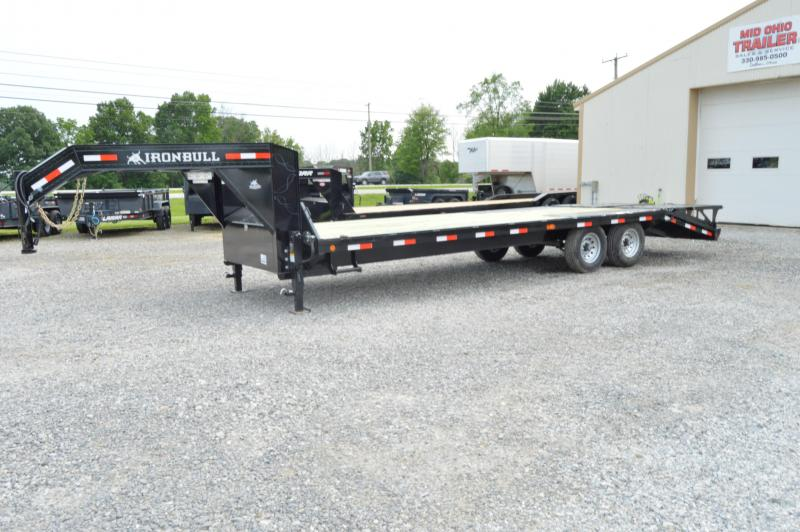 2019 Iron Bull 102x25 Deckover Gooseneck Equipment Trailer