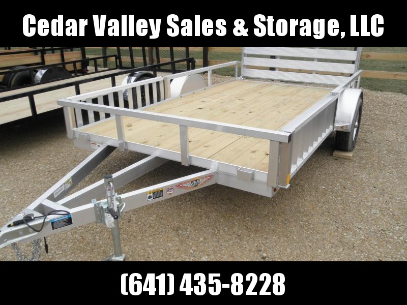 """2020 H&H 82"""" X 12' Aluminum Rail Side ATV Trailer with Side Ramps"""