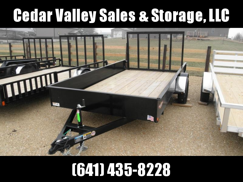 "2020 H&H Trailer 76"" X 12' Solid Side Utility Trailer"