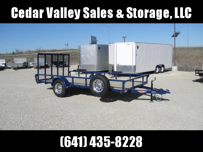 2020 H&H 82X14 Rail Side Utility Trailer with 5K Axle