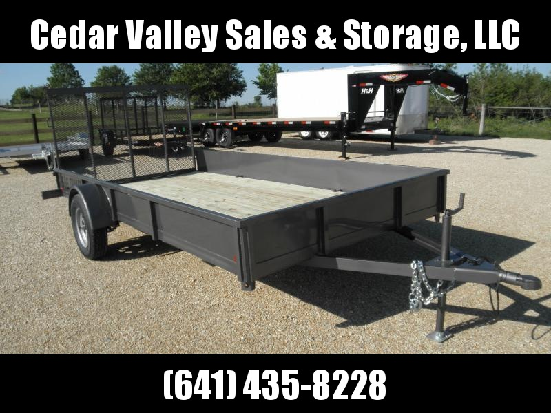 2021 S&S Manufacturing 82x14 Steel Side Utility Trailer