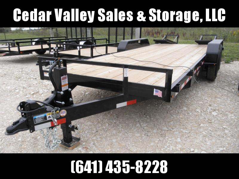 2020 H and H Trailer H8220IL-140 Flatbed Trailer