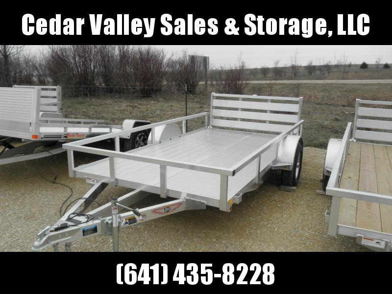 2020 H&H 76X12 Aluminum Rail Side Utility Trailer with Extruded Deck