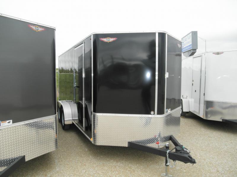 2020 H&H 7x16 Enclosed Cargo Trailer 7K