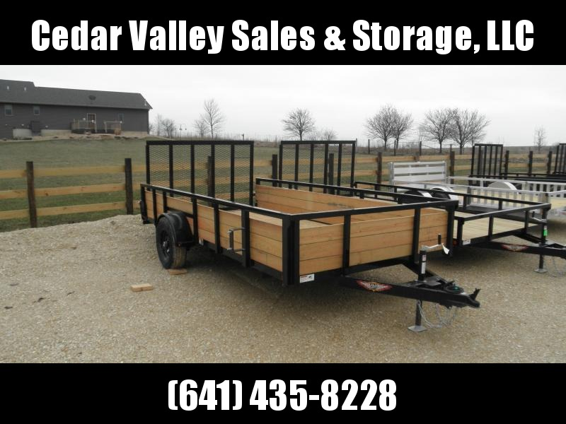 "2020 H&H 82"" X 14' Wood Side 5K Utility Trailer"