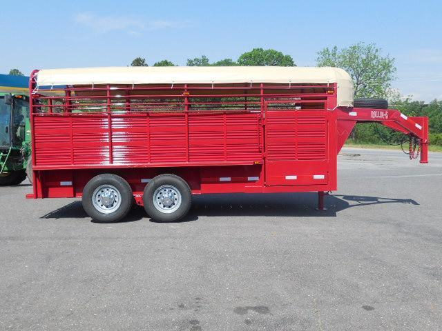 2016 Rollin-S 7ft x 16ft Pipe Top Livestock Trailer