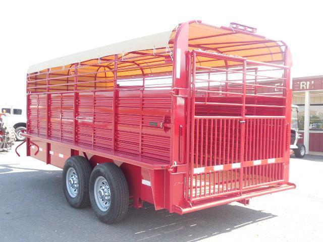 2016 Rollin-S 7ft x 16ft Pipe Top Livestock Trailer