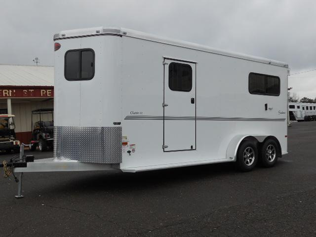 2015 Sundowner Trailers 2H Rear & Side Ramps Horse Trailer