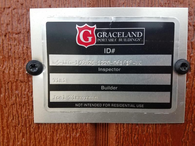 2018 Graceland Portable Buildings 12'X20' Garage/Carport