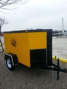Maxwell 4 x 6 x 4 V-Nose w/Double Rear Swing Doors