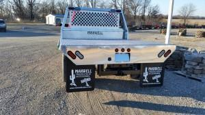 All Aluminum Flat Bed with Custom Head Rack and Receiver Hitch