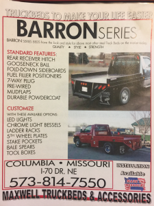 2020 Maxwell Barron Truck Bed