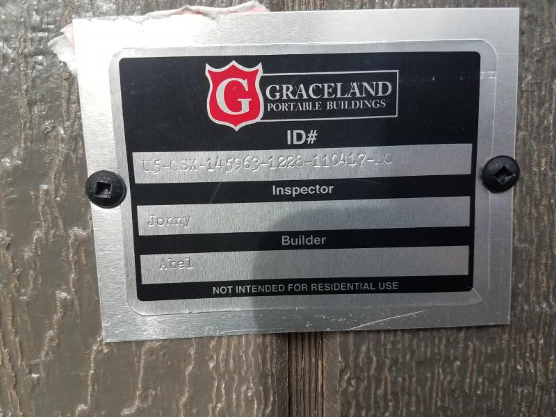 2017 Graceland Portable Buildings 12'X28' Utility Shed