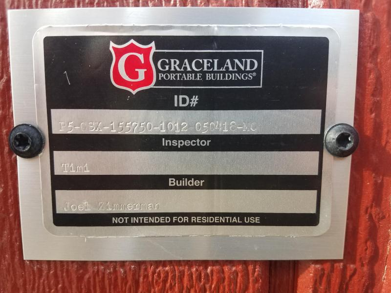 2018 Graceland Portable Buildings 10'X12' Utility Shed