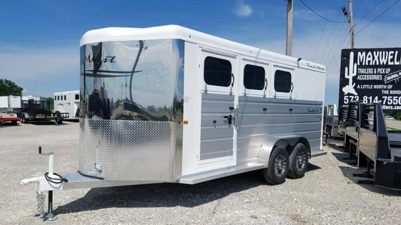 2020 Trails West Manufacturing 3 HORSE Horse Trailer