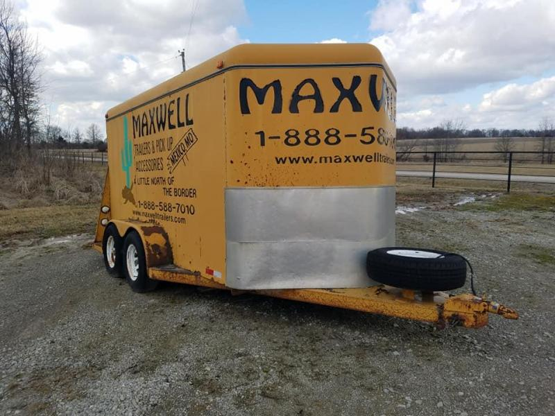 1999 Maxwell TA Steel Enclosed Cargo Trailer