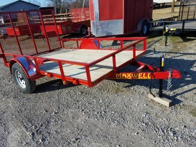 New 2018 Maxwell 77 x 10 Utility Trailer