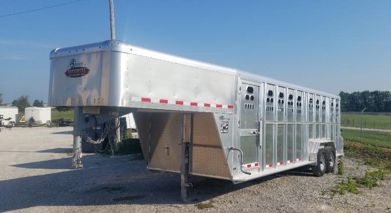 2018 Barrett Trailers Goose Neck Aluminum Livestock Livestock Trailer