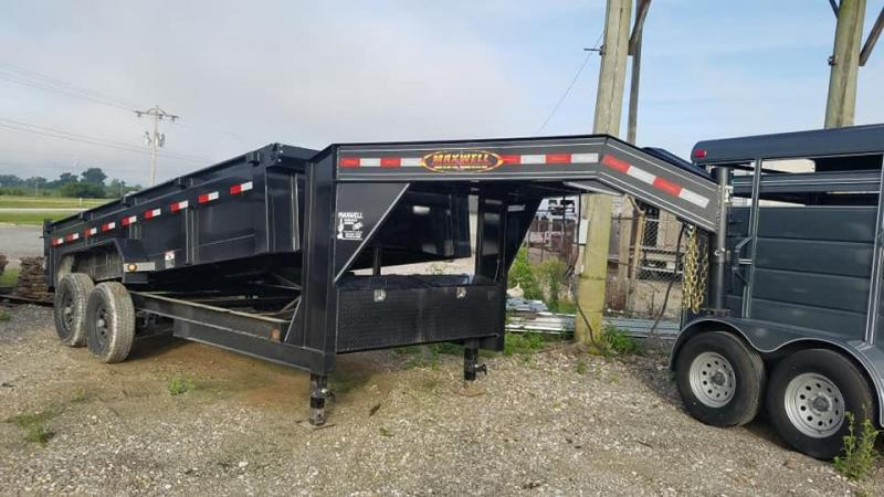 New Maxwell 83 x 16 14K Low Pro Gooseneck Dump Trailer