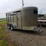 New 2019 BrushPopper 16 ft BP Livestock Trailer