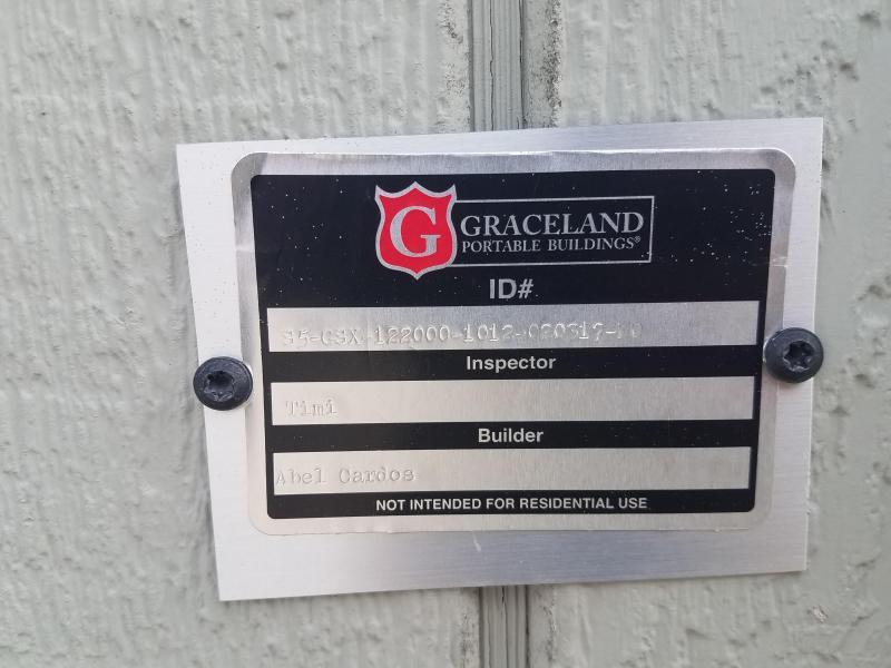 2017 Graceland Portable Buildings 10'X12' Utility Shed