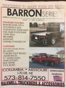 2020 Maxwell Barron Truck Bed