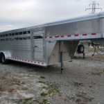 New 2018 Barret 7 x 24 All Aluminum Livestock Trailer