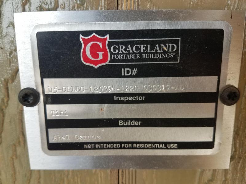 2017 Graceland Portable Buildings 12X20 Lofted Cabin