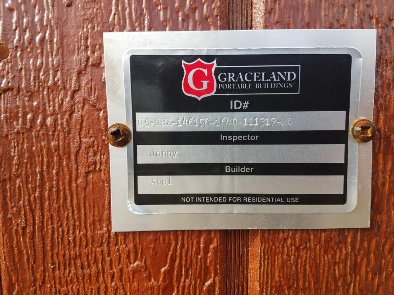 2017 Graceland Portable Buildings 16'X40' Utility Shed