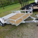New 2019 Maxwell 77 x 10 Aluminum Utility Trailer