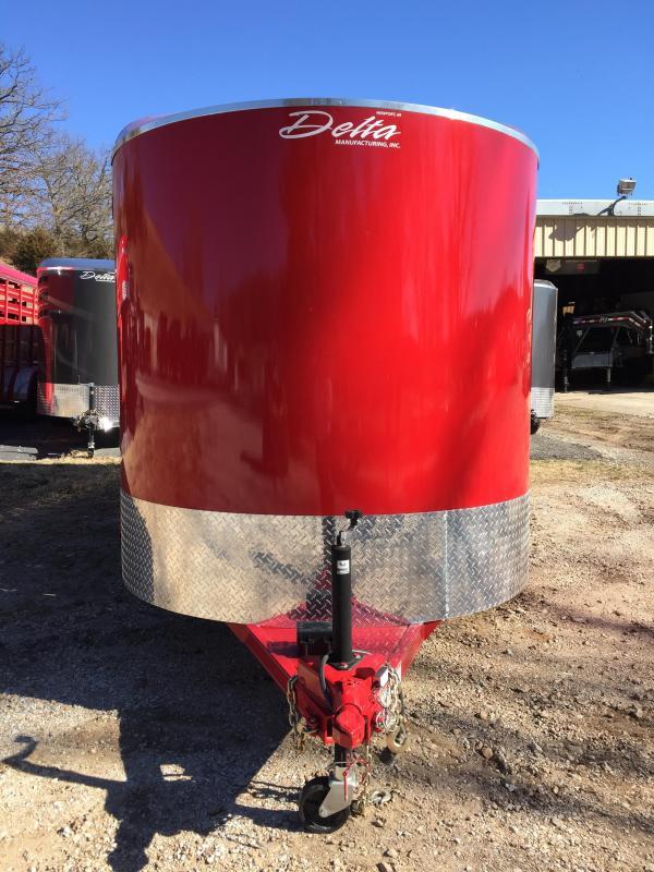 Delta Manufacturing Red 16' Bumper  Livestock Trailer