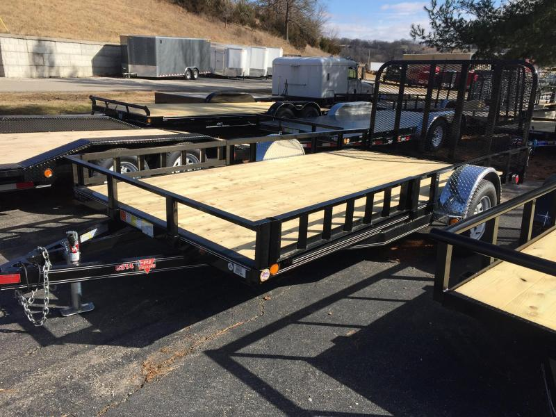 "PJ Trailers 14' x 83"" Channel Utility Trailer"