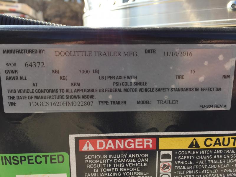 2017 Doolittle Trailer Mfg 16 x 8 1/2 Cargo