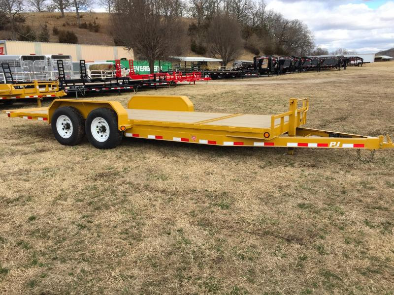 "PJ Trailers 20' x 6"" Channel Yellow Equipment Tilt Trailer"
