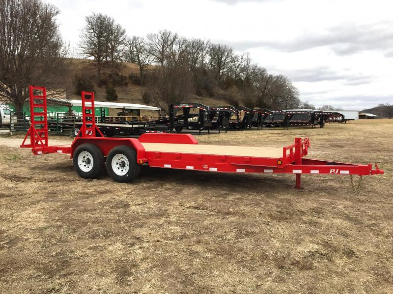 "PJ Trailers 20' x 6"" Red Channel Equipment Trailer"