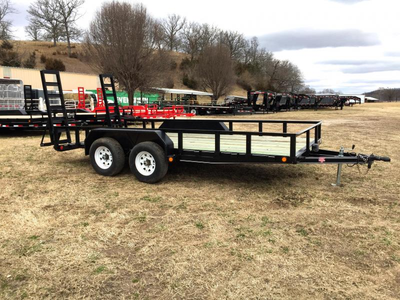 "PJ Trailers 16' x 83"" Channel Utility Trailer"