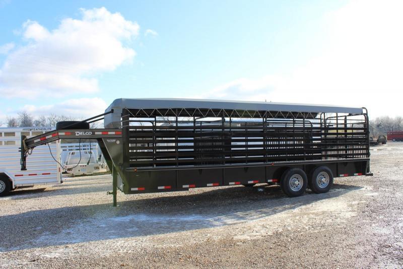 2020 Delco Trailers GB68X24 Livestock Trailer