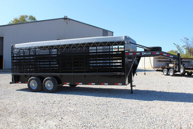 2020 Delco Trailers Bar Top Livestock Livestock Trailer