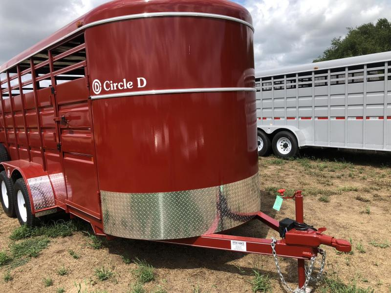 2019 Circle D 6'X16' Bumper Hitch Livestock Trailer
