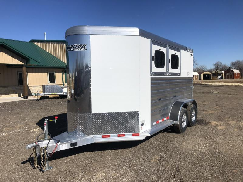 2020 Cimarron Trailers Norstar 2 Horse Bumper Hitch Horse Trailer