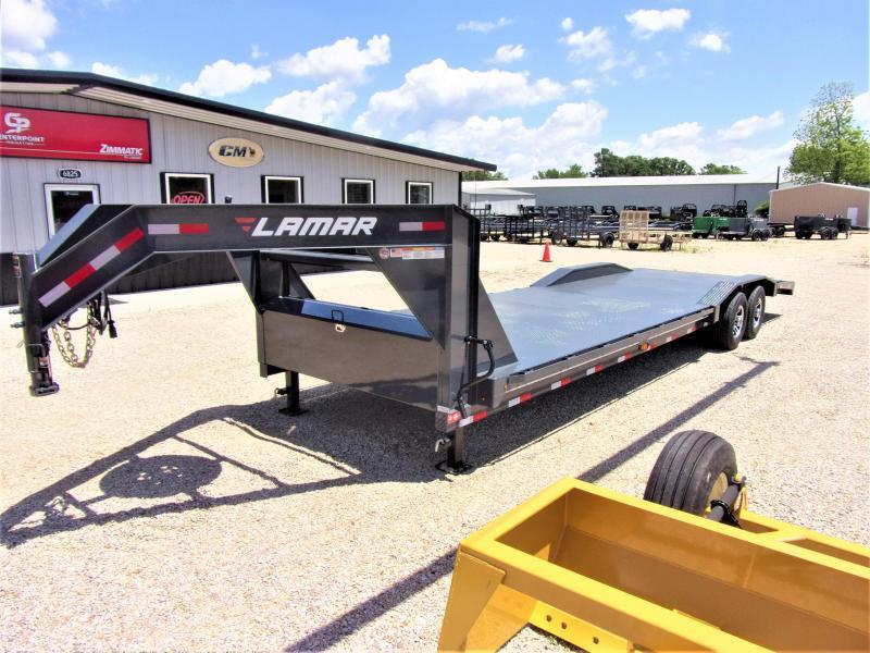 "2019 LAMAR 102"" X 30' HD GOOSENECK LOWBOY / CAR HAULER GVWR 14K"