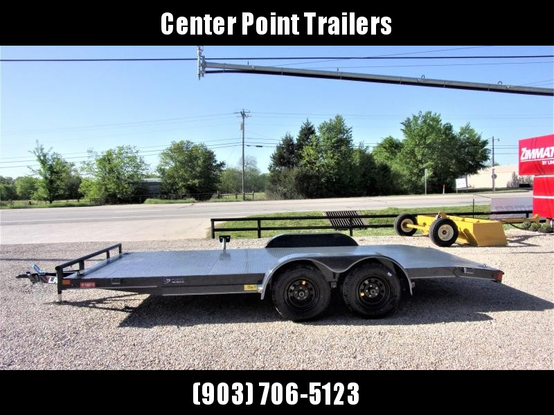 2020 Lamar Trailers 83''x18 Bumper Pull Car Hauler GVWR 7K