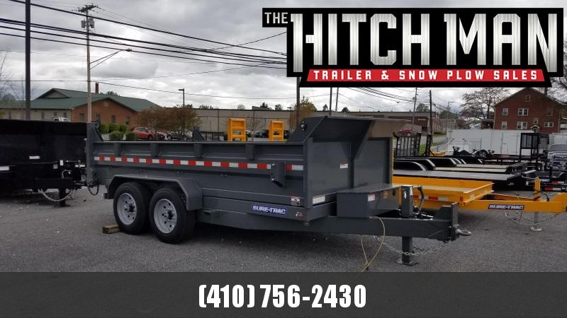 "82"" X 14 Sure-Trac HD LProfile 16K Scissor Dump"