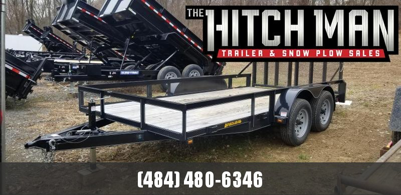 "2018 Pequea Used 80"" x 14 open landscape Utility Trailer"